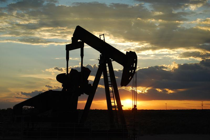 An oil pump between Seminole and Andrews, West Texas. (Paul Lowry/Flickr)