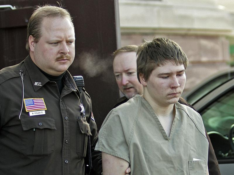 Brendan Dassey, 16, is escorted out of a Manitowoc County Circuit courtroom in 2006, in Manitowoc, Wis.
