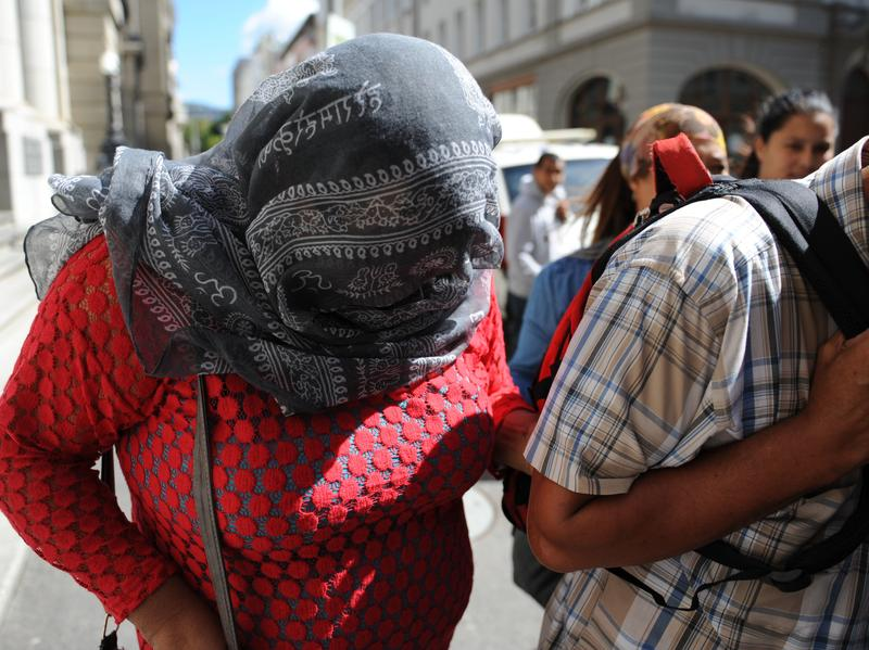 The woman convicted of kidnapping Zephany Nurse 19 years ago arrives at the Cape Town High Court in March.