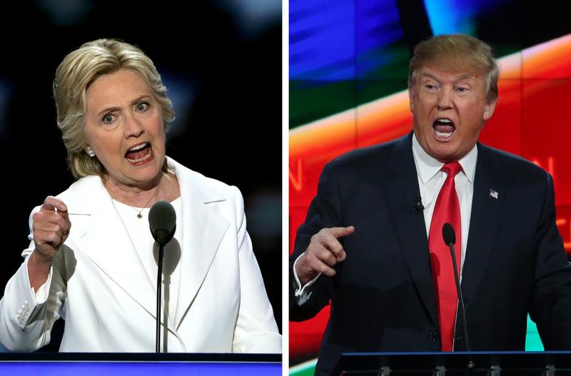 Democratic candidate Hillary Clinton and Republican candidate Donald Trump have been going head to head on their economic plans. (Justin Sullivan/Getty Images)