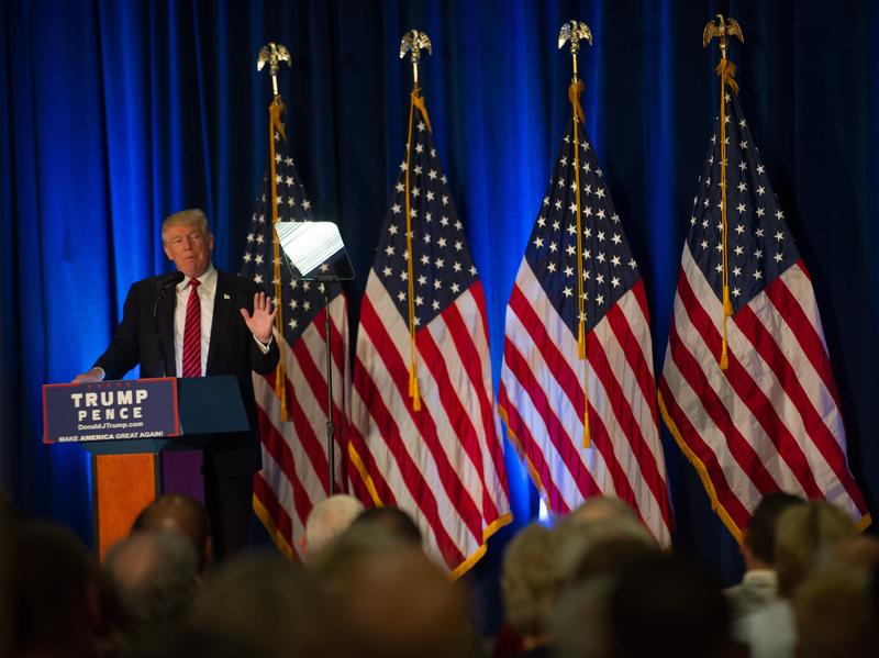 Donald Trump held a campaign event at Youngstown State University in Ohio on Monday.