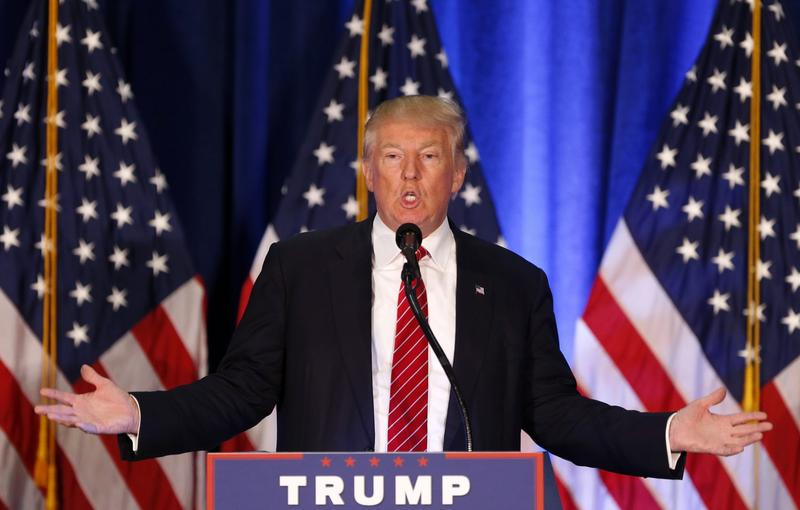 Republican presidential candidate Donald Trump spoke on his foreign policy ideas in Ohio on Monday. (Gerald Herbert/AP)