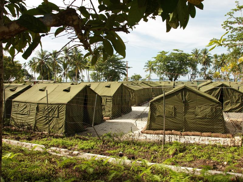 A view of facilities at the Manus Island Regional Processing Facility in Papua New Guinea in 2012. For years, the facility has been used to indefinitely detain asylum-seekers; Australia and Papua New Guinea have now agreed to close it.
