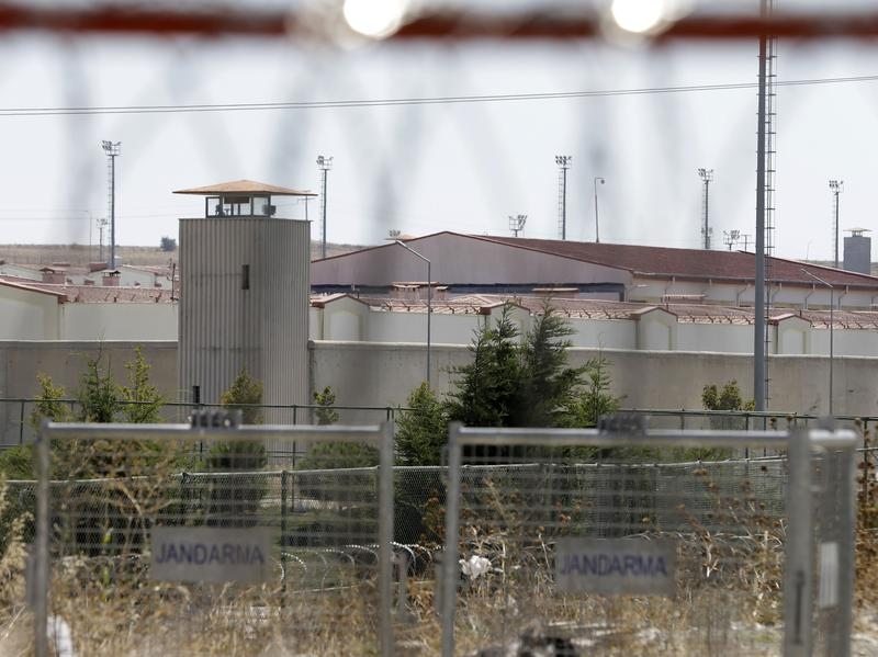 A high-security prison complex is seen behind the fences in Silivri, some 50 miles west of Istanbul.