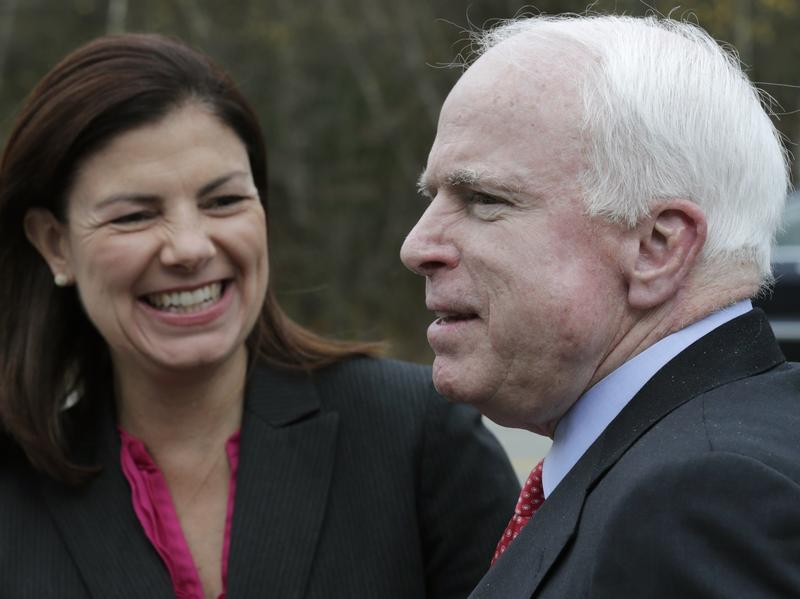 Sen. Kelly Ayotte, R-N.H., and Sen. John McCain, R-Ariz., seen here in 2012, are both facing competitive elections in 2016.