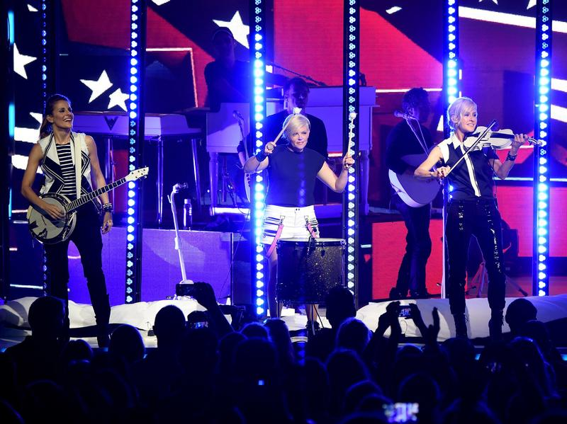 Emily Strayer, Natalie Maines, and Martie Maguire of the Dixie Chicks perform onstage on June 1, 2016, for the DCX World Tour MMXVI Opener. The tour stopped in Nashville Wednesday.