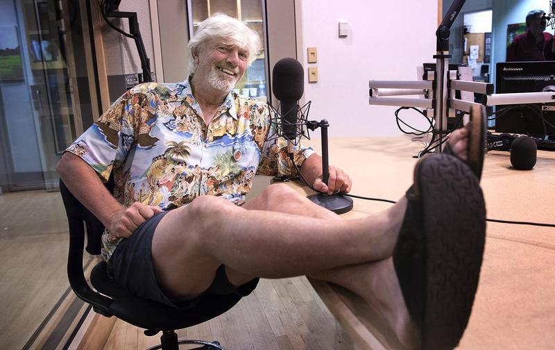 Bill Lee at the Here & Now studio. (Robin Lubbock/WBUR)