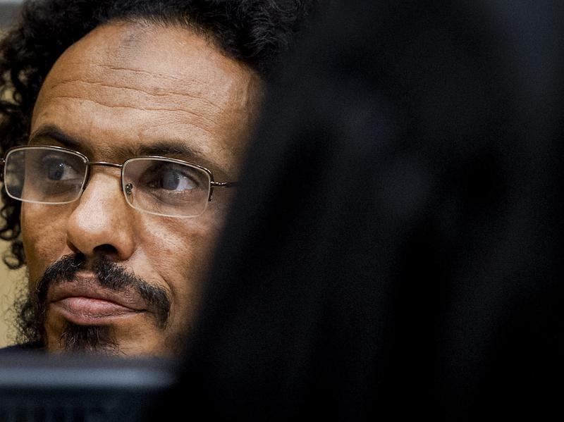 Ahmad Faqi al-Mahdi in the courtroom of the International Criminal Court in the Hague last September. Mahdi pleaded guilty to war crimes over the deliberate destruction of buildings at a UNESCO-listed desert heritage site in Mali in 2012.