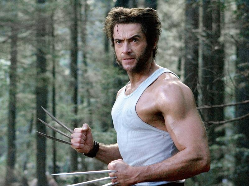 Hugh Jackman and mutton chops in <em>X-Men: The Last Stand</em>