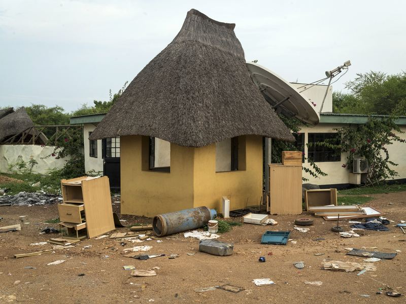 The Terrain Hotel compound was ransacked by South Sudanese troops, who went on to attack foreign aid workers holed up there.
