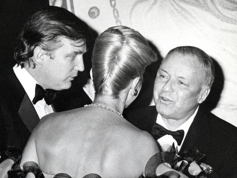 Donald Trump, Ivana Trump and Frank Sinatra in 1988.