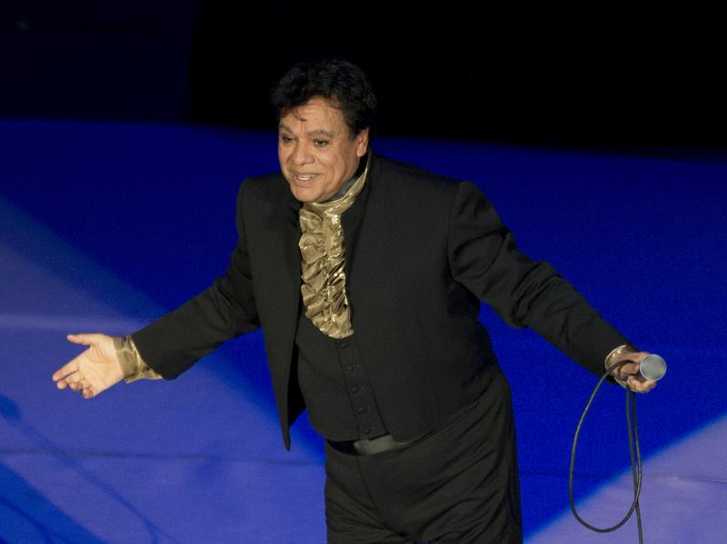 Mexican singer Juan Gabriel performs at the National Auditorium in Mexico City last year.