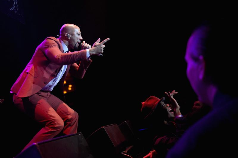 Rapper Common performs onstage at Global Green USA's 12th annual pre-Oscar party in Hollywood on Feb. 18, 2015. (Jason Kempin/Getty Images for Global Green)
