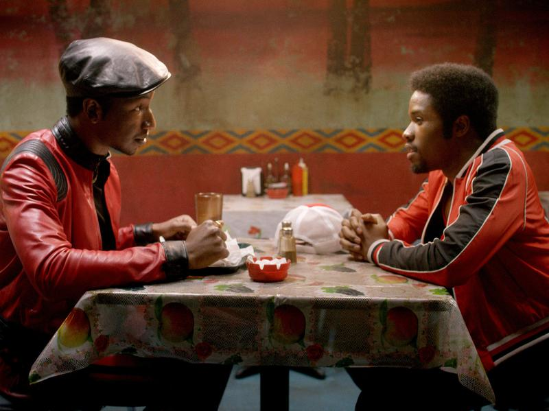Mamoudou Athie and Shameik Moore in a scene from <em>The Get Down</em>.