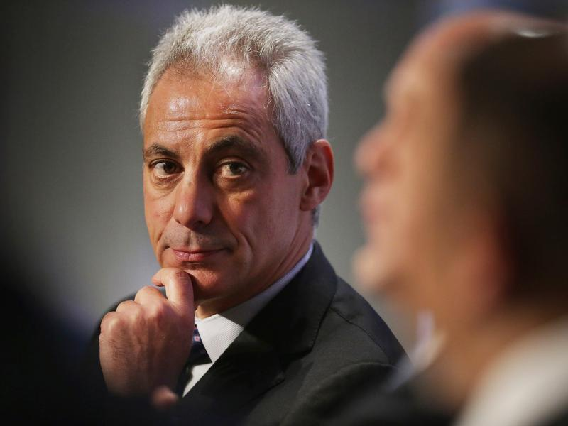 Chicago Mayor Rahm Emanuel, shown here in January, wants to create a new Civilian Office on Police Accountability to investigate police shootings, allegations of excessive force and other police misconduct.