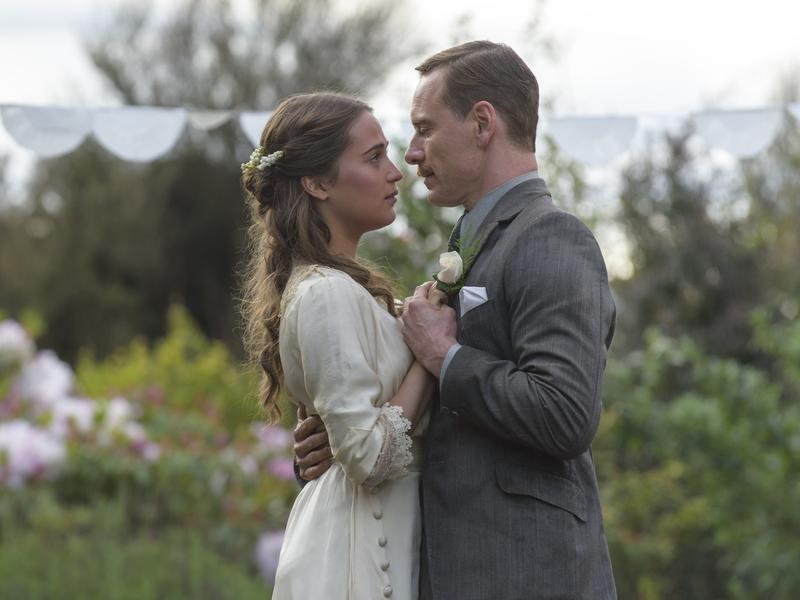 Isabel (Alicia Vikander) and Tom (Michael Fassbender) make a life for themselves on a remote island in <em>The Light Between Oceans</em>.