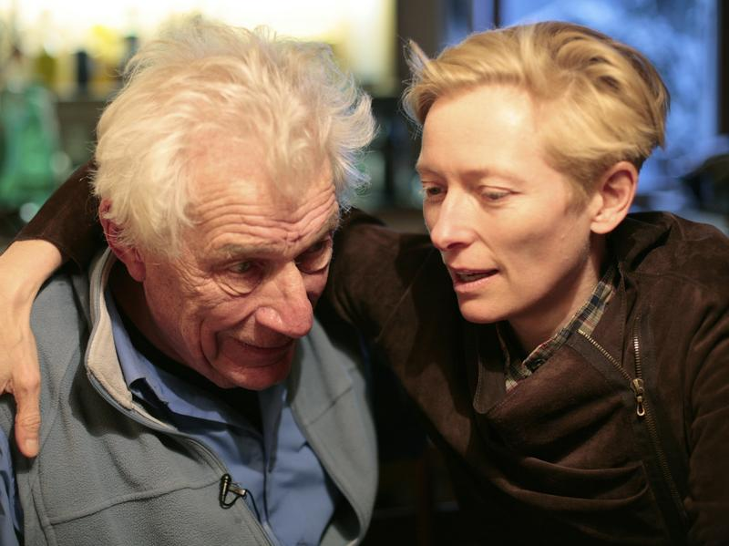 Writer and critic John Berger and friend Tilda Swinton in the new documentary <em>The Seasons in Quincy</em>.