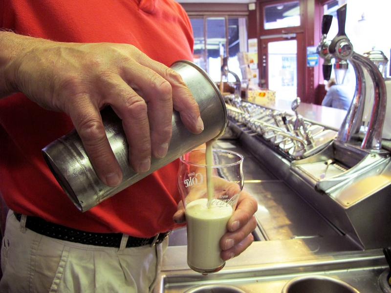 The coffee cabinet is a Rhode Island staple. It's an ice cream beverage dating back to the World War II era. The ingredient list is pretty simple: It's just coffee syrup, ice cream and milk.