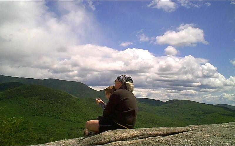 Sean and Sam Hurley on Welch Mountain in New Hampshire. (Courtesy Sean Hurley)