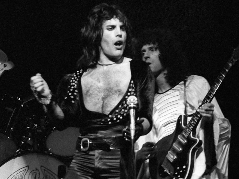 Freddie Mercury is seen here performing with Queen bandmate Brian May. This week, May announced that an asteroid has been named in Mercury's honor.