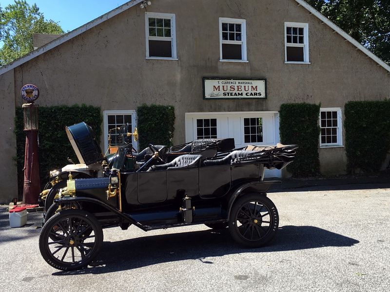 A Ford Model T sits at the Marshall Steam Museum ready to be fired up.