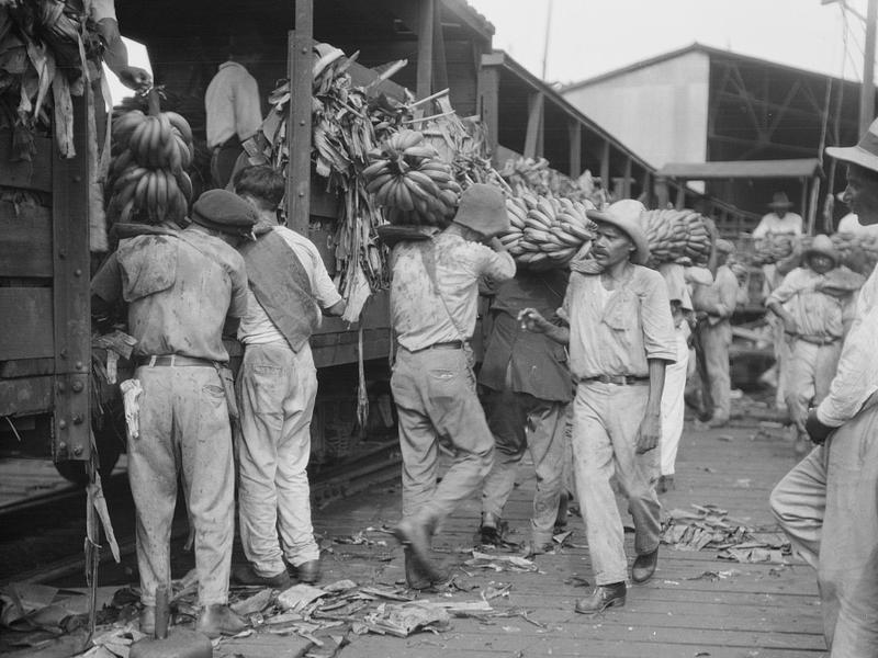 Workers unload bananas in New Orleans. Bananas Foster, one of New Orleans' favorite desserts, is a lasting legacy of an oft-forgotten chapter in the city's history: the banana trade, which spawned banana republics.