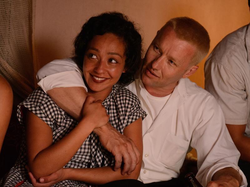 Ruth Negga and Joel Edgerton as Mildred and Richard Loving in <em>Loving</em>.