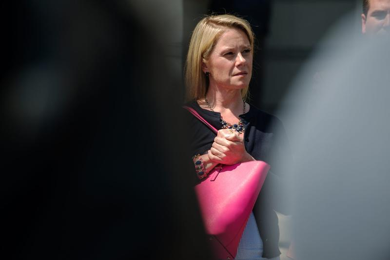 Bridget Kelly, New Jersey Gov. Chris Christie's former deputy chief of staff, attends a press conference in front of the federal courthouse on May 4, 2015 in Newark, N.J. (Bryan Thomas/Getty Images)