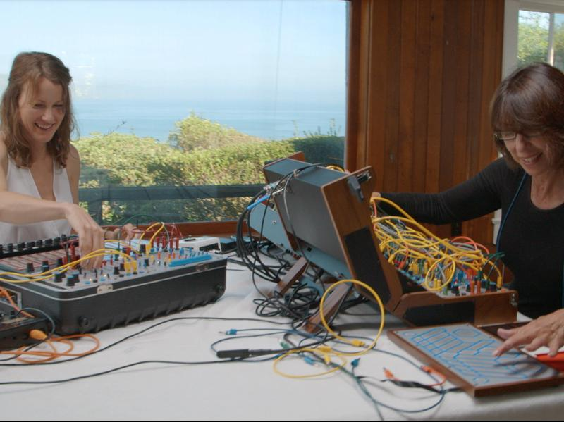 Kaitlyn Aurelia Smith and Suzanne Ciani in the <em>Sunergy</em> documentary.