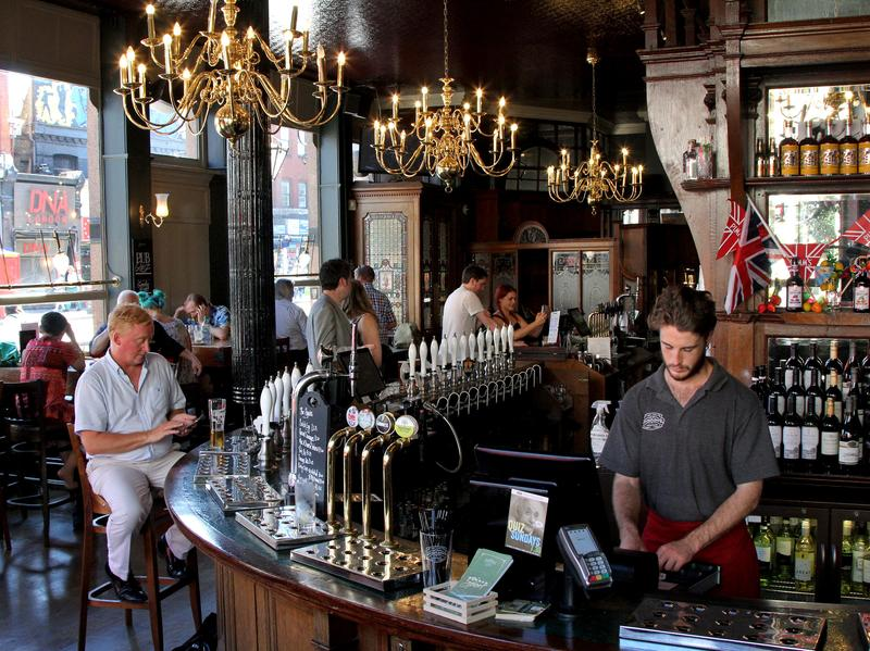 The Falcon is one of 120 pubs that Wandsworth has designated for protection. The pub, which has stained glass windows, dates to the 1800s.