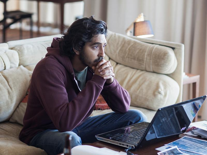 Saroo (Dev Patel) searches for his mother in <em>Lion</em>.