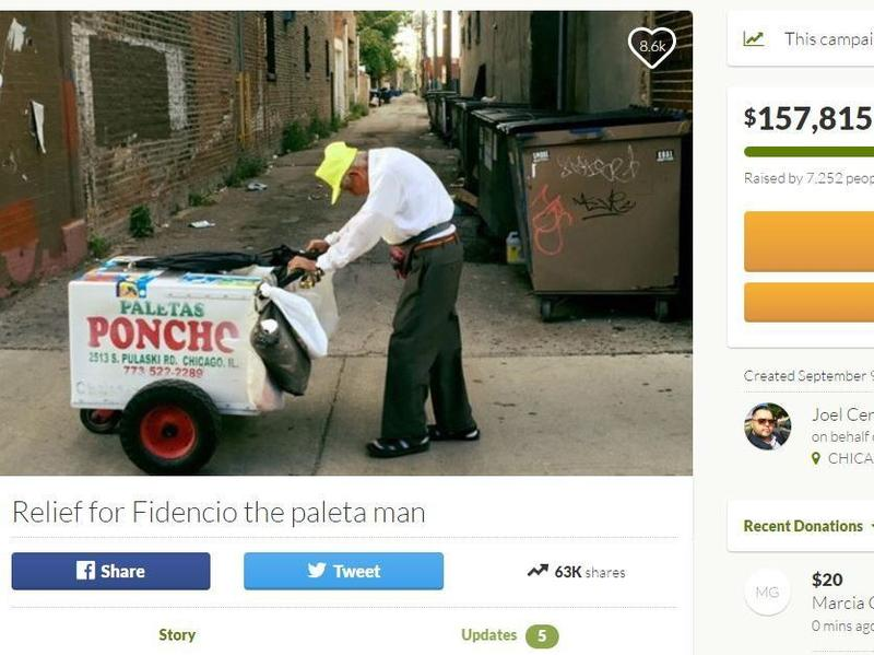 A fundraising campaign for Fidencio Sanchez has raised more than 50 times the original $3,000 that was sought.