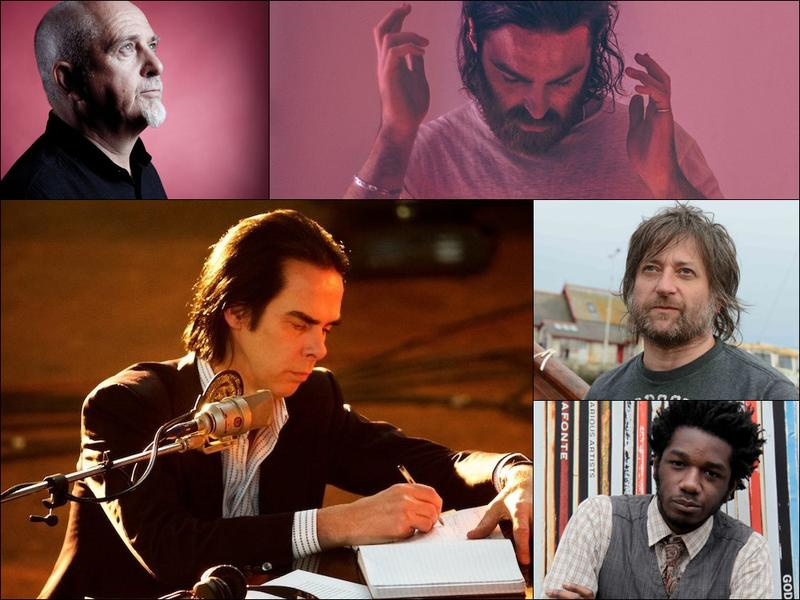 Clockwise from upper left: Peter Gabriel, Nick Murphy (formerly known as Chet Faker), King Creosote, L.A. Salami, Nick Cave