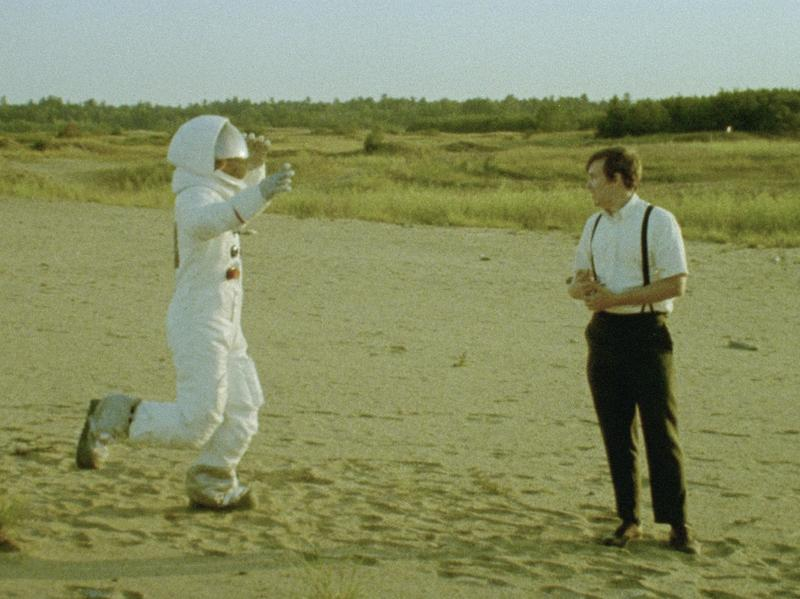 One Small Step: Owen Williams and Matt Johnson in <em>Operation Avalanche.</em>