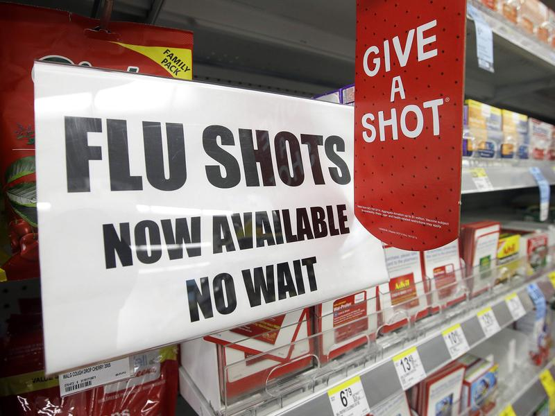 """The start of flu season is still weeks or months away, but you can get a flu shot now at many pharmacies. """"It's a way to get people into the store to buy other things,"""" says Tom Charland, an analyst who tracks the walk-in clinic industry."""