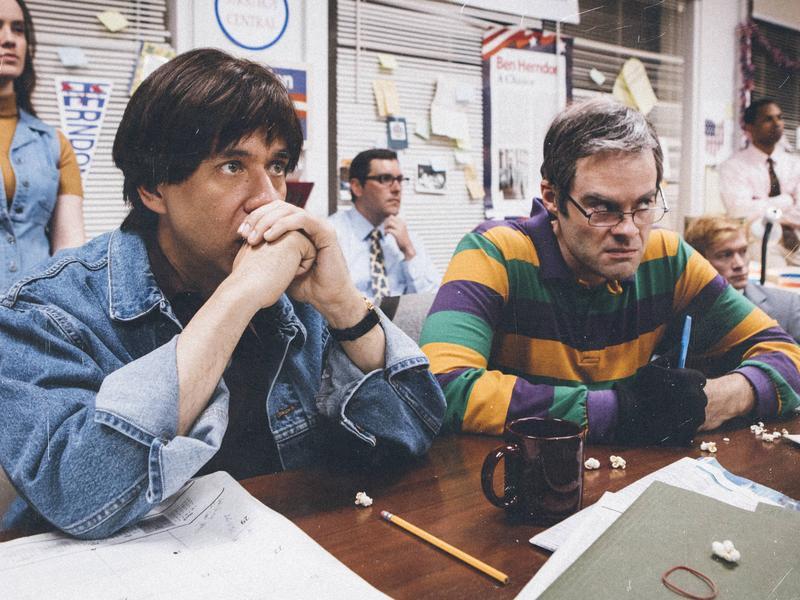Fred Armisen and Bill Hader parody <em>The War Room</em> in the new season of <em>Documentary Now!</em>