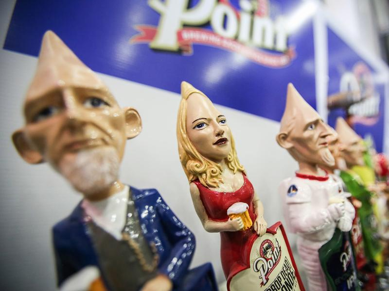 """AJS made these cone-headed taps for <a href=""""http://www.pointbeer.com/"""">Stevens Point Brewery</a> in Wisconsin."""