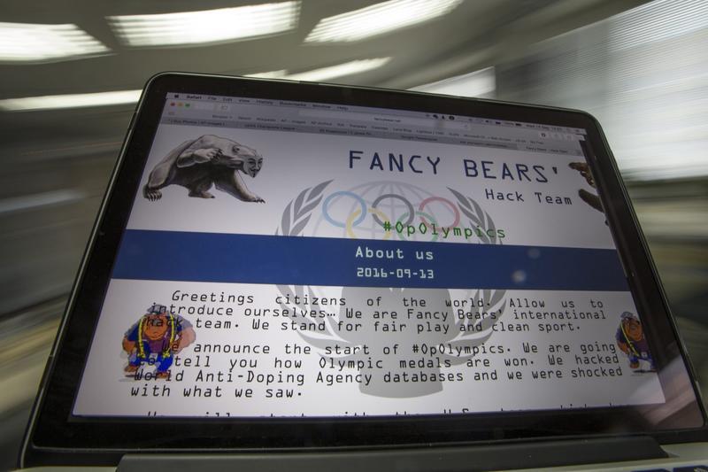 A screenshot of the Fancy Bears website fancybear.net seen on a computes screen in Moscow, Russia, Wednesday, Sept. 14, 2016. (Alexander Zemlianichenko/AP)