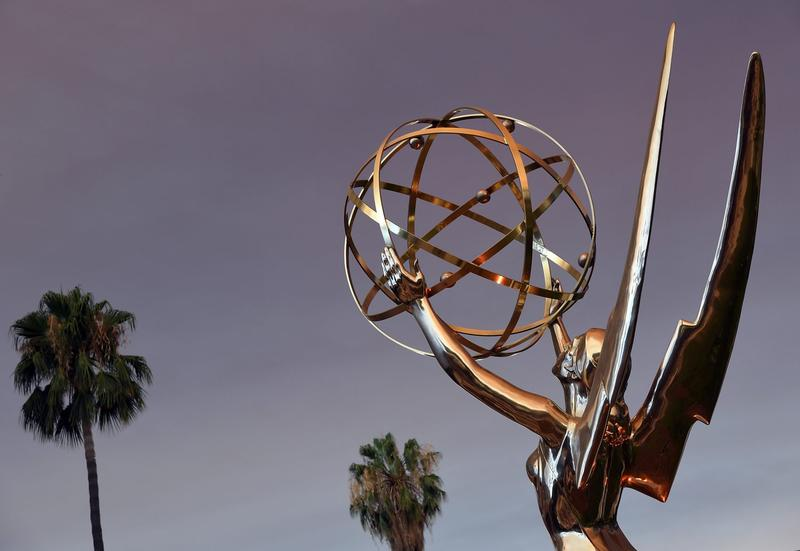 Emmy Statue is seen in front of the Television Academy during the red carpet for the 68th Los Angeles Emmy Awards in North Hollywood, Calif. on July 23, 2016. (Angela Weiss/AFP/Getty Images)