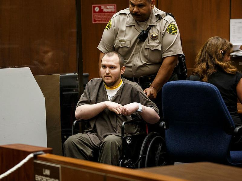 Harry Burkhart leaves a downtown Los Angeles courtroom after being found guilty on 47 counts of arson on Thursday, Sept. 1, 2016.