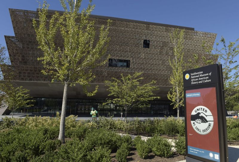 The final preparations are being made for the opening of the National Museum of African American History and Culture in Washington, D.C., Wednesday, Sept. 14, 2016. (Susan Walsh/AP)