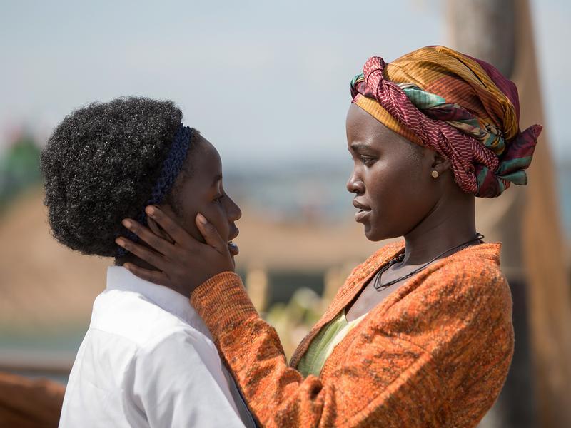 Madina Nalwanga and Lupita Nyong'o star in <em>Queen of Katwe</em>, directed by Mira Nair.