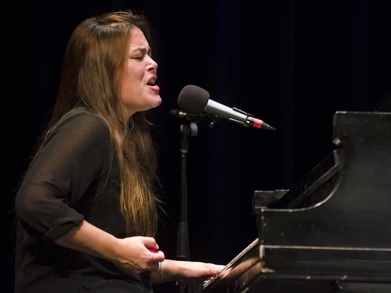 Rachael Yamagata performs on <em>Mountain Stage</em>.