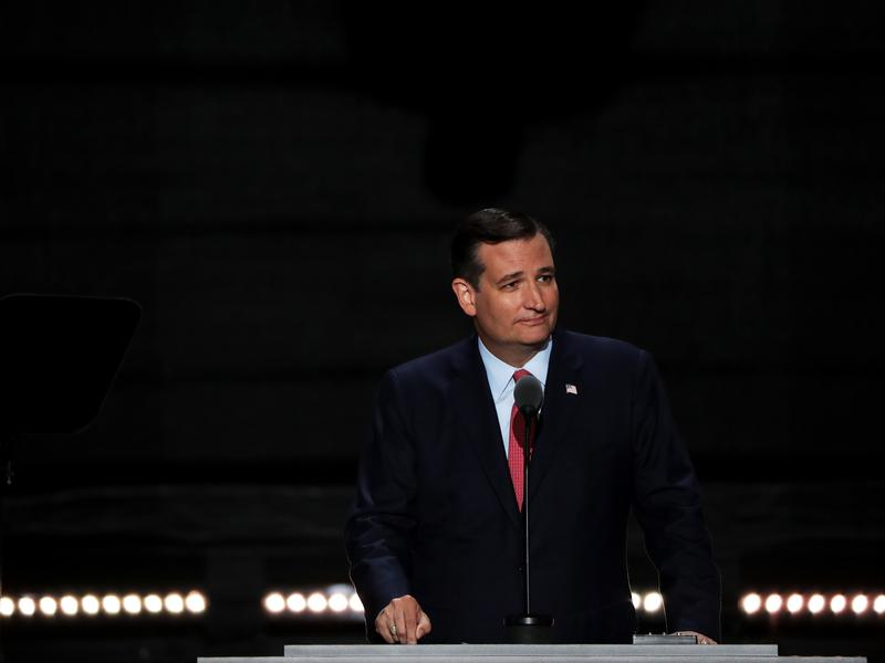 Sen. Ted Cruz spoke at the Republican National Convention in Cleveland in July and was booed off the stage.
