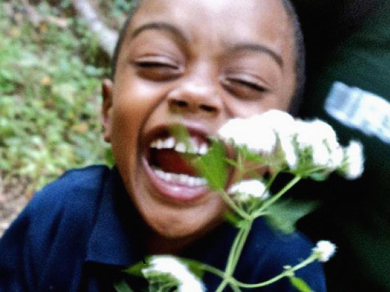A child enjoying nature.
