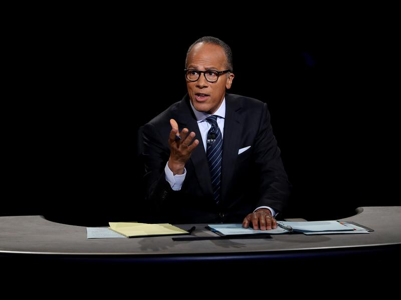 Lester Holt did indeed fact-check the candidates Monday night. But did it do anything?