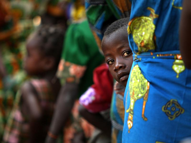 A boy stands in line for a measles vaccination in the northern Central African Republic. More than half the cases of measles each year are reported in Africa and Asia.