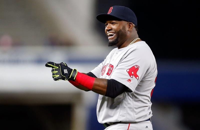 David Ortiz of the Boston Red Sox smiles before a game against the New York Yankees on Sept. 28, 2016, at Yankee Stadium in New York. (Jim McIsaac/Getty Images)