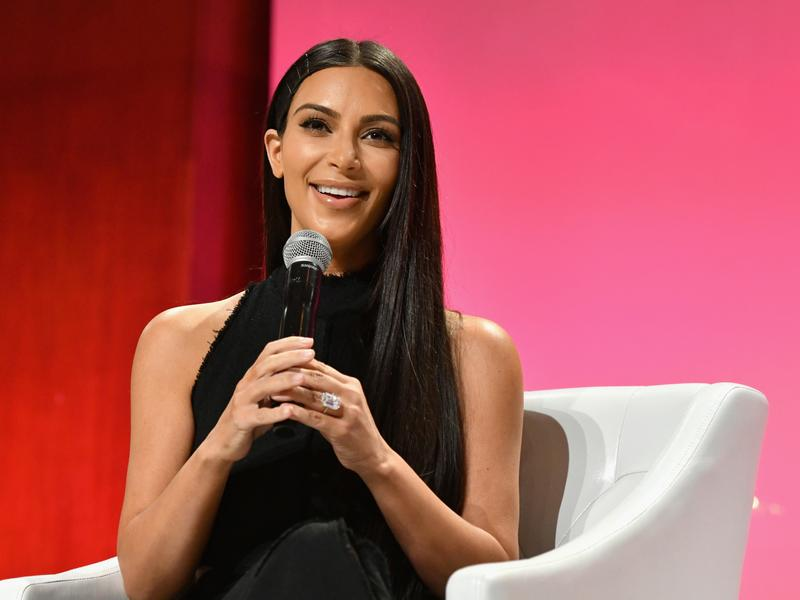 Kim Kardashian West speaks at The Girls' Lounge dinner, giving visibility to women at Advertising Week 2016, on Sept. 27 at Pier 60 in New York City.
