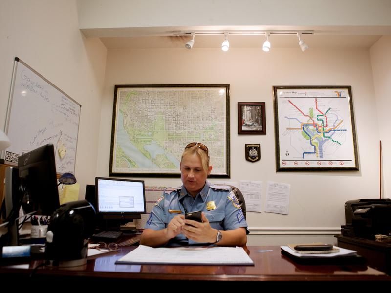 As head of the LGBT Liaison Unit, Sgt. Jessica Hawkins trains officers how to respond to crimes involving LGBT people and does community outreach.